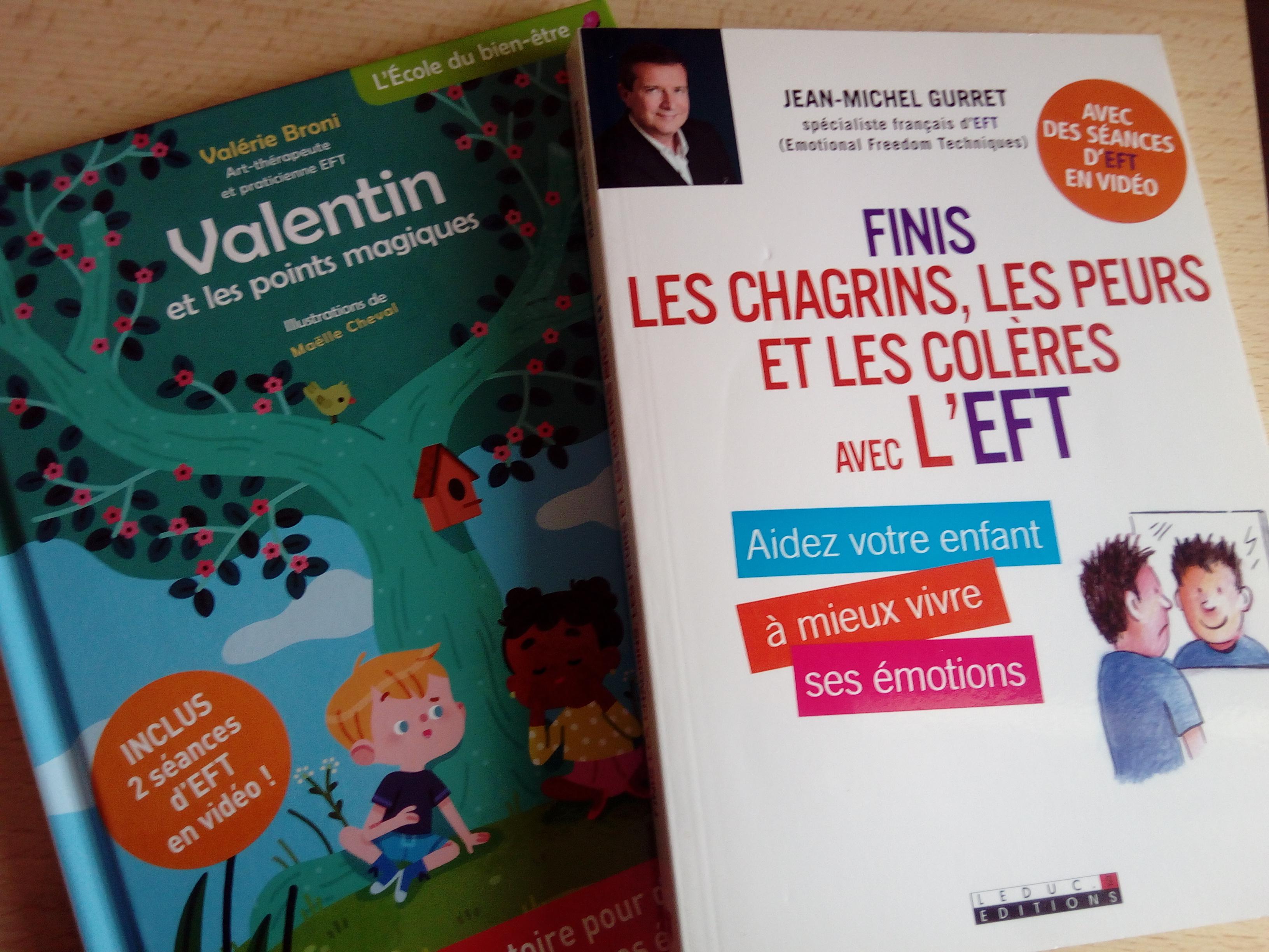 livres pour découvrir et pratiquer l'EFT avec les enfants