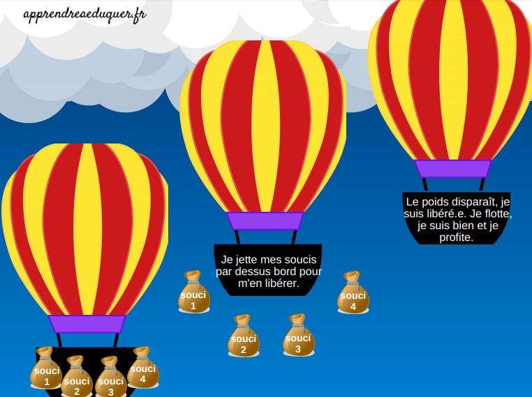 montgolfière souci activité enfant libérer souci