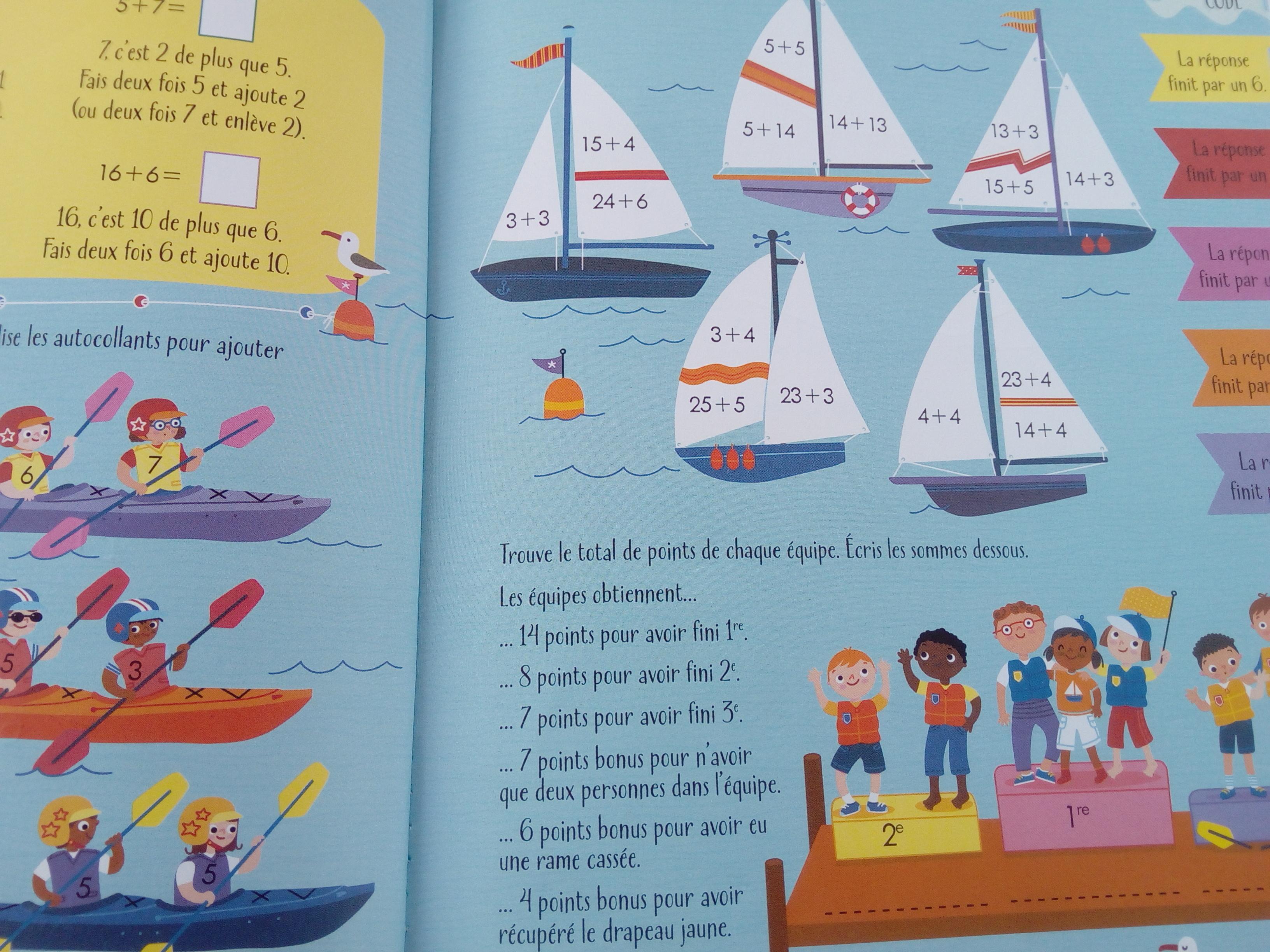 cahier activités additions soustractions enfants