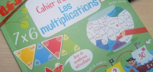 cahier apprendre tables multiplication