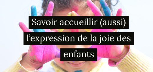 expression joie des enfants