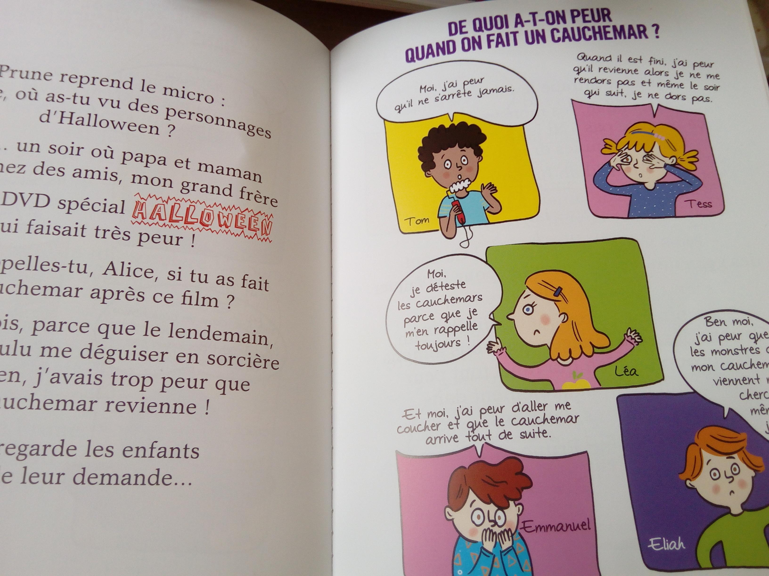 livre enfant cauchemar