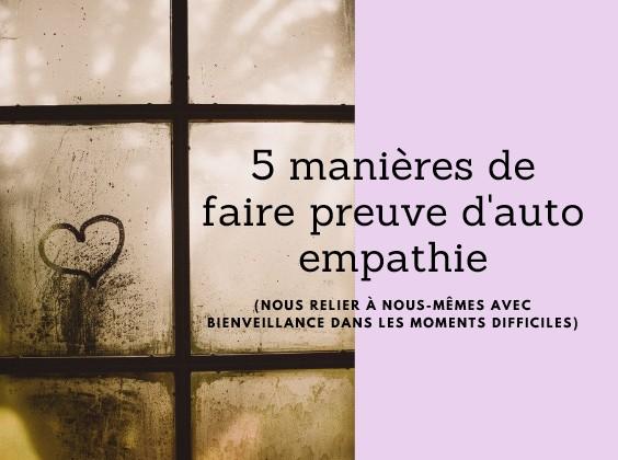 auto empathie bienveillance soi meme