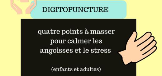 Digitopuncture points à masser pour calmer les angoisses enfants