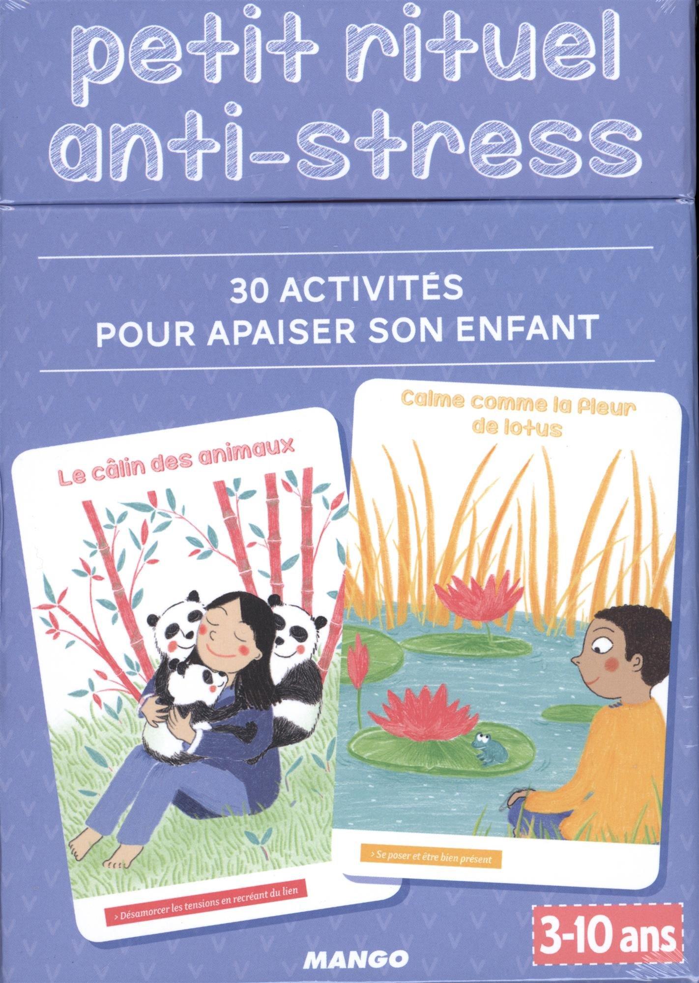COFFRET de cartes anti-stress : 30 activités pour apaiser son enfant
