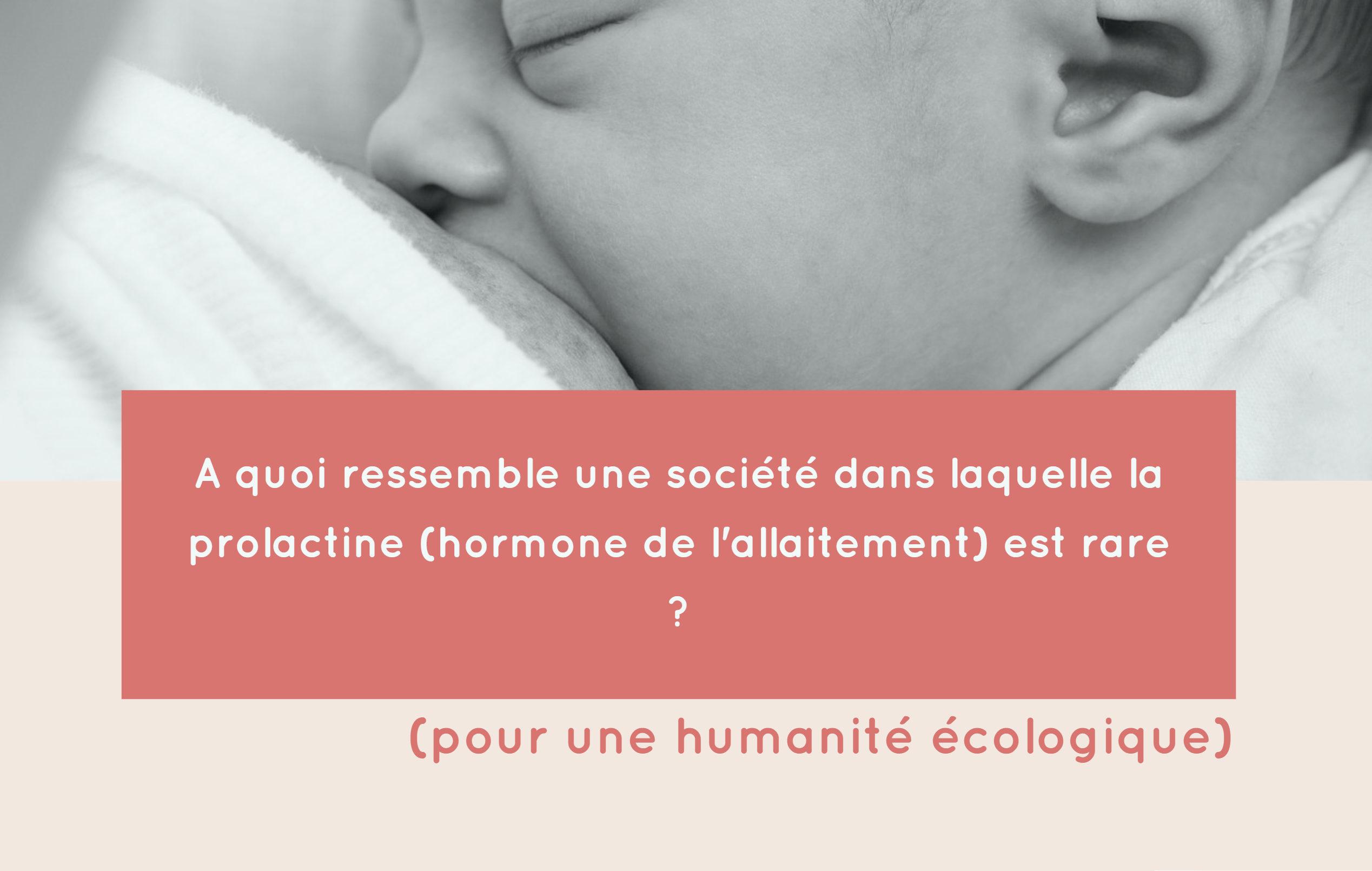 prolactine allaitement société