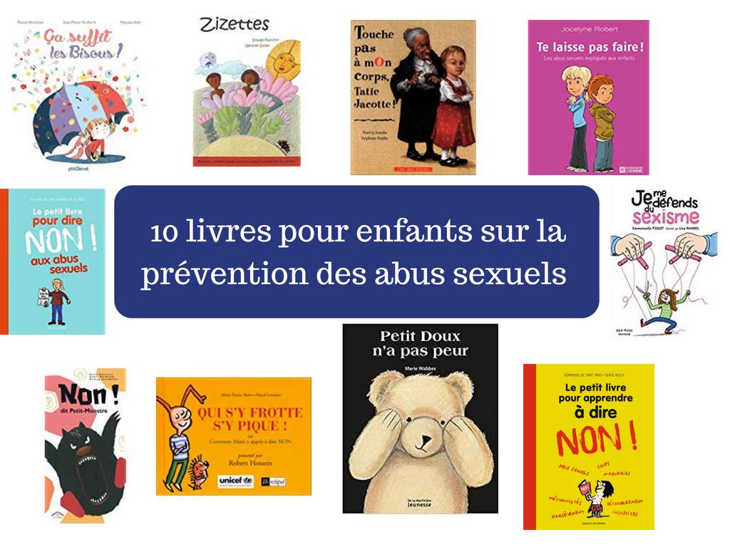 10 livres pour enfants sur la prévention des abus sexuels (savoir dire non et dénoncer)