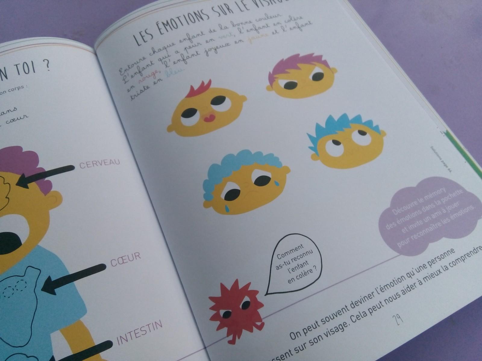 cahier émotions petits enfants