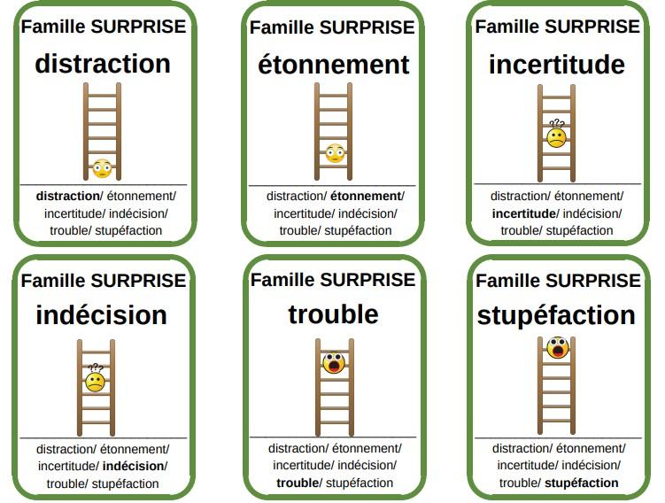 jeu familles des émotions enfants