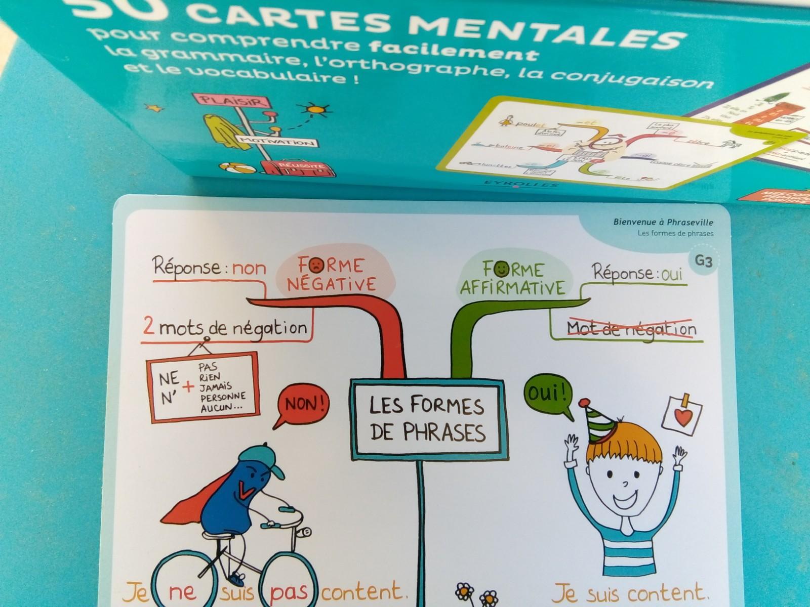 cartes mentales français CP CE1 CE2