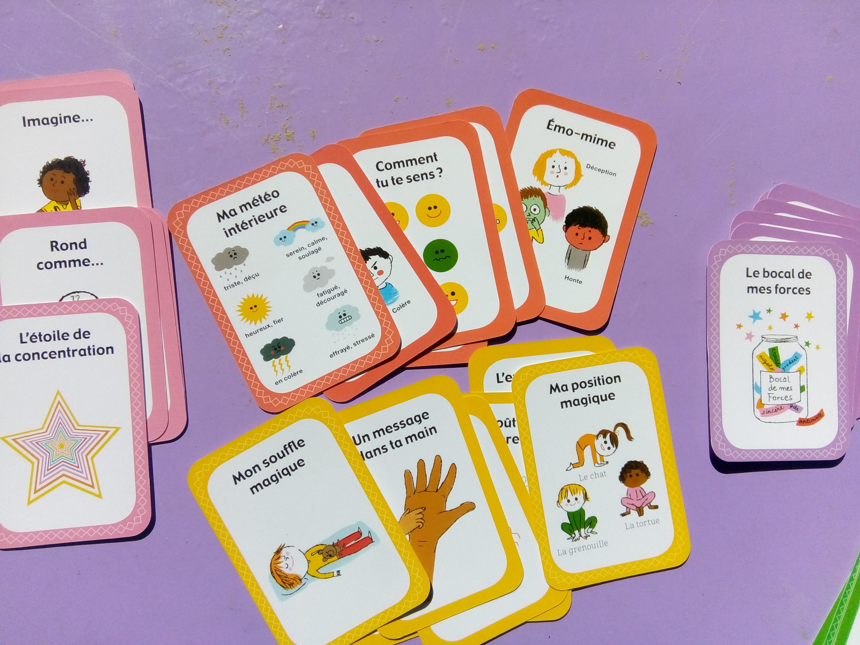 Coffret concentration pour les enfants : un jeu de cartes pour se concentrer (6 ans et +)