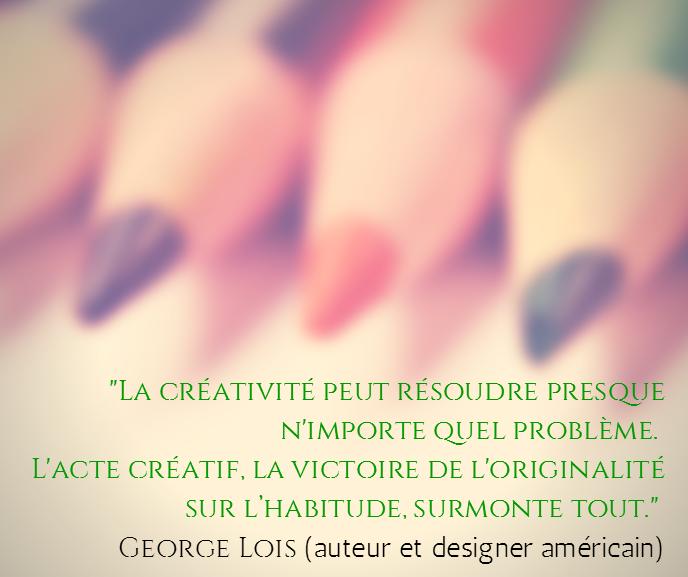 la créativité peut résoudre n'importe quel problème