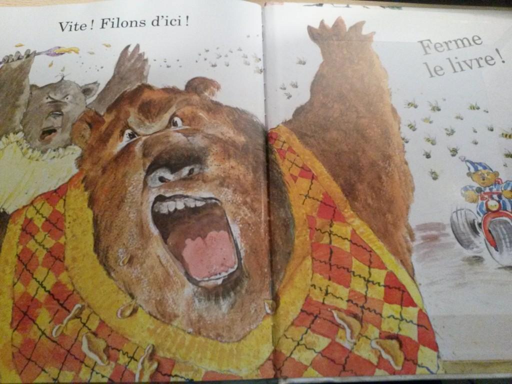 ouste ! attention aux ours livre pour les enfants qui ont peur