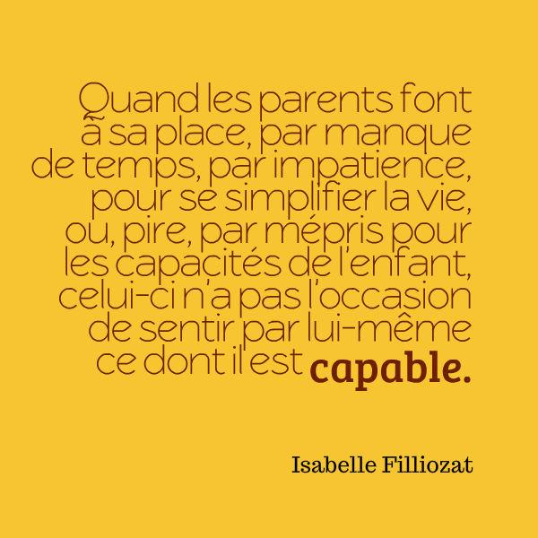 confiance en soi enfant citation Isabelle Filliozat