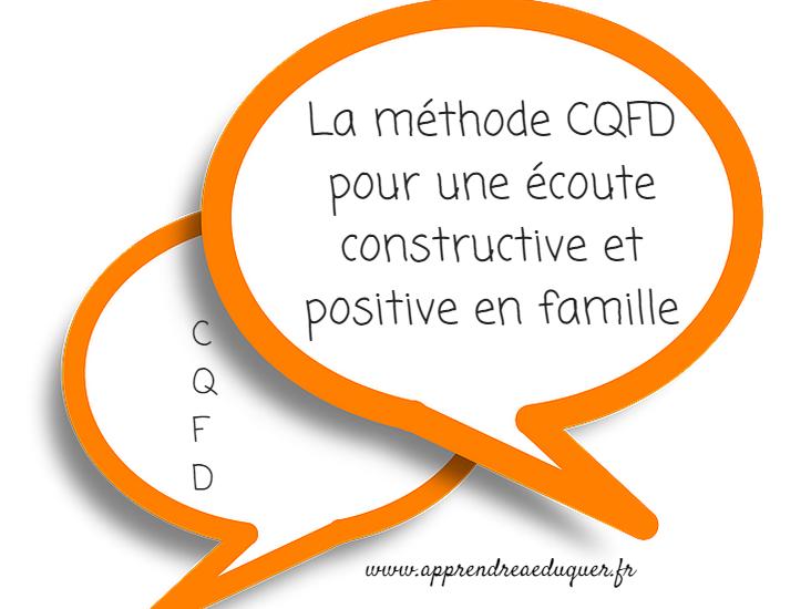 La méthode CQFD pour une écoute constructive et positive en famille