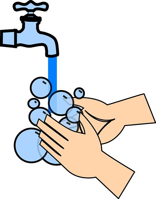 se laver les mains enfants