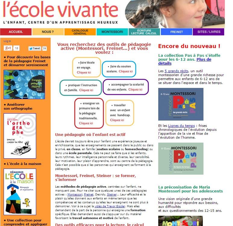 site pédagogies actives