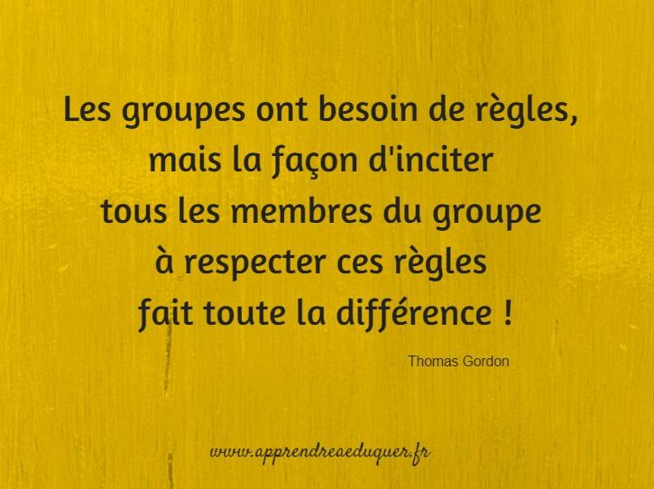 Les groupes ont besoin de règles, mais la façon d'inciter tous les membres du groupe à respecter ces règles fait toute la différence !