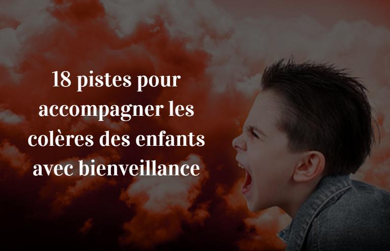 colère enfants bienveillance