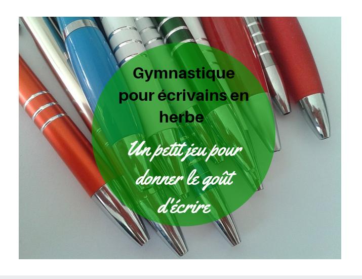 jeu d'écriture gymnastique pour écrivain