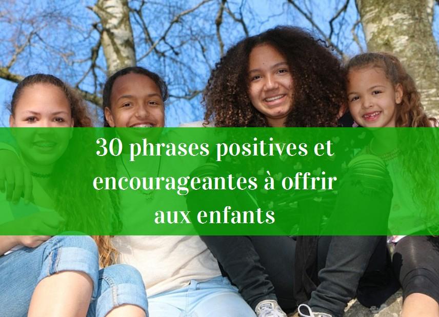 phrases encourageantes enfants