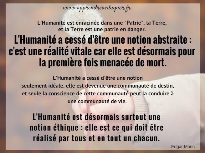citation humanité éducation