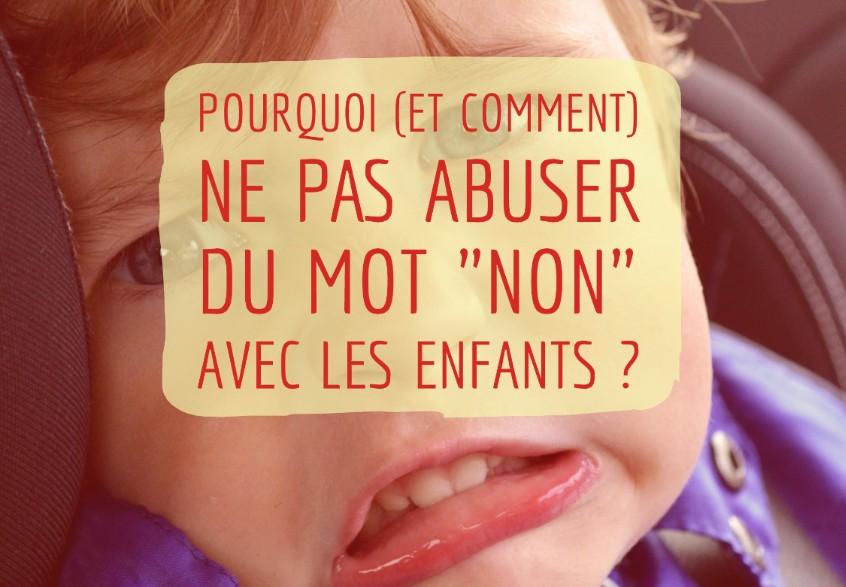 dire non aux enfants