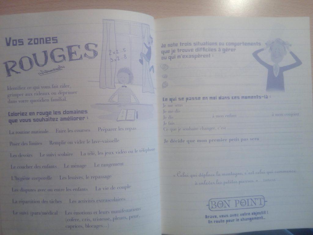 cahier d'exercices parents zen
