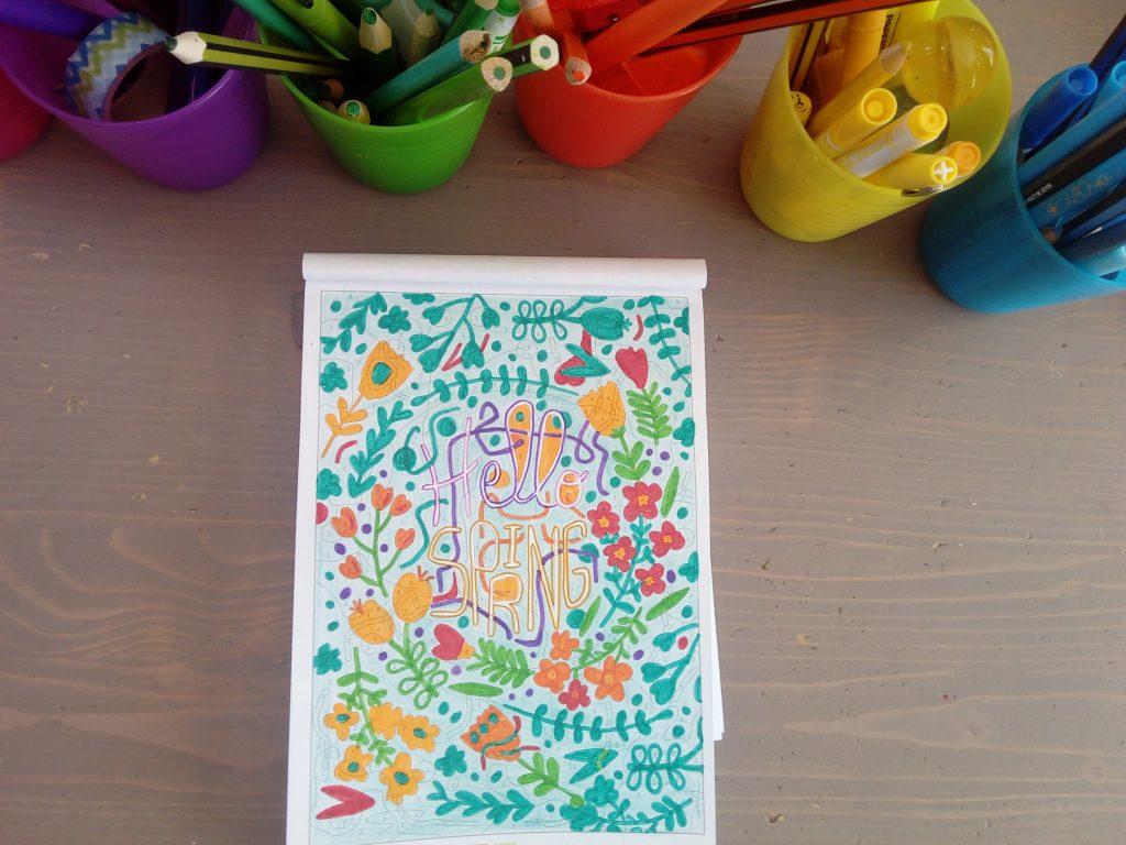 coloriages pour être heureux