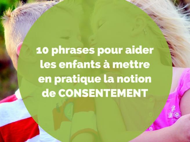 CONSENTEMENT ENFANTS