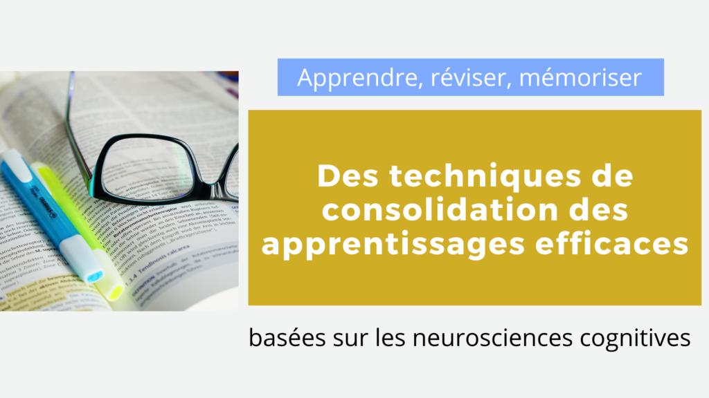 apprendre réviser neurosciences
