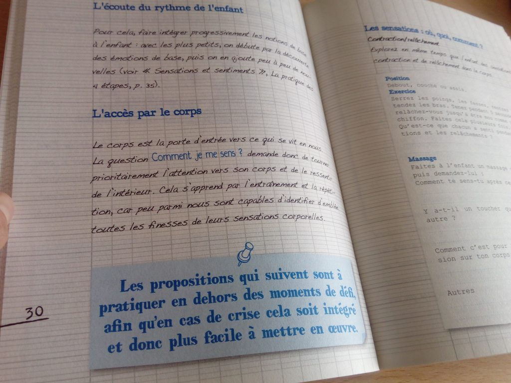 cahier exercices cnv parents
