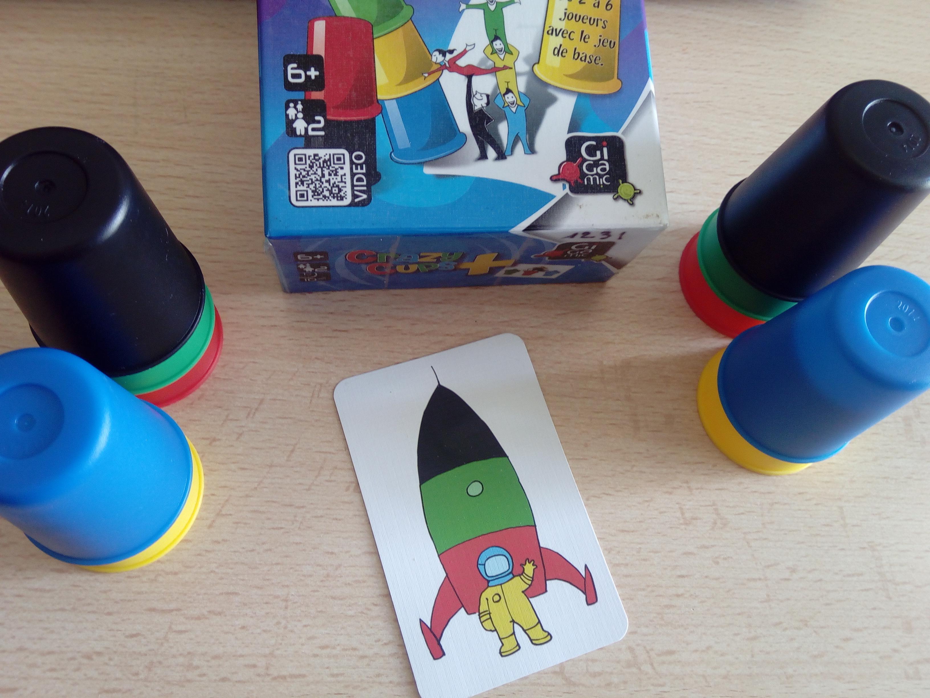 cray cups jeu réflexion enfant