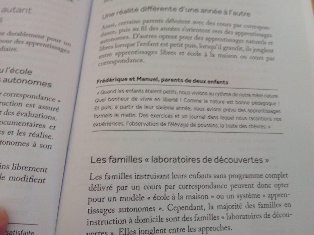 livre pour faire instruction en famille