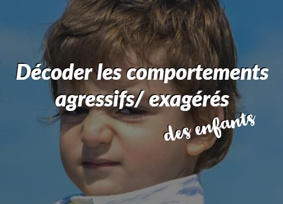décoder comportements agressifs enfants