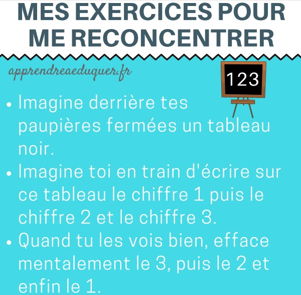 exercices concentration enfants