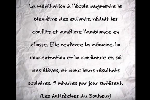 méditation du bonheur école