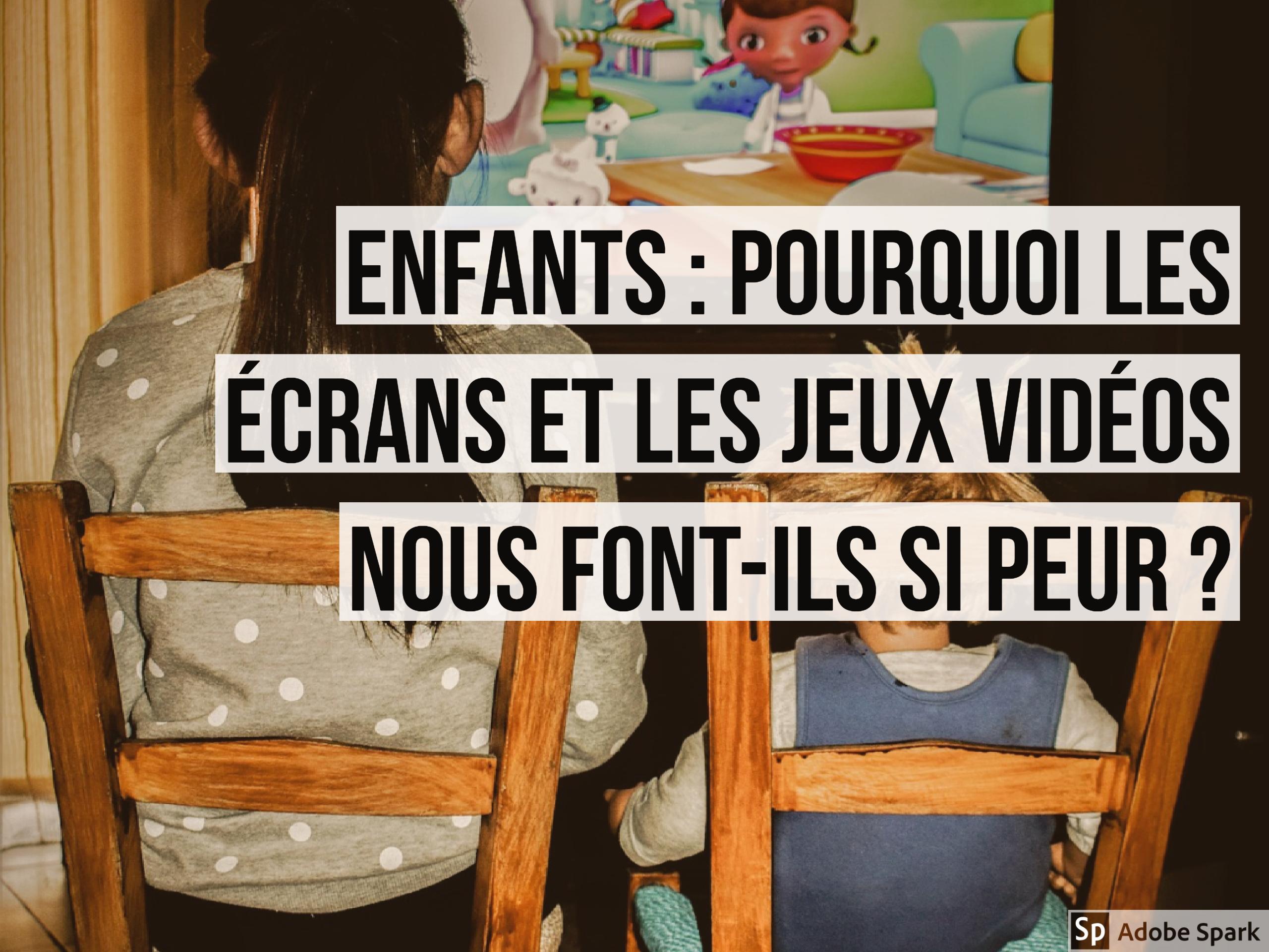 Enfants : pourquoi les écrans et les jeux vidéos nous font-ils si peur ?