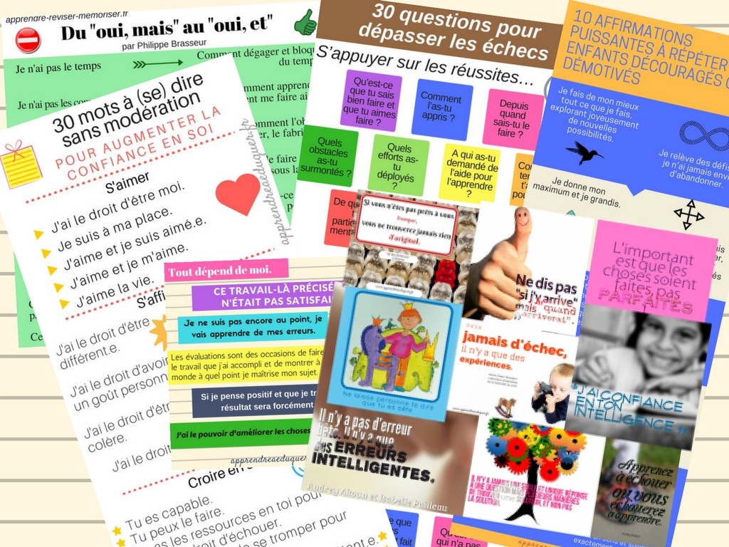affiches positives pour l'école