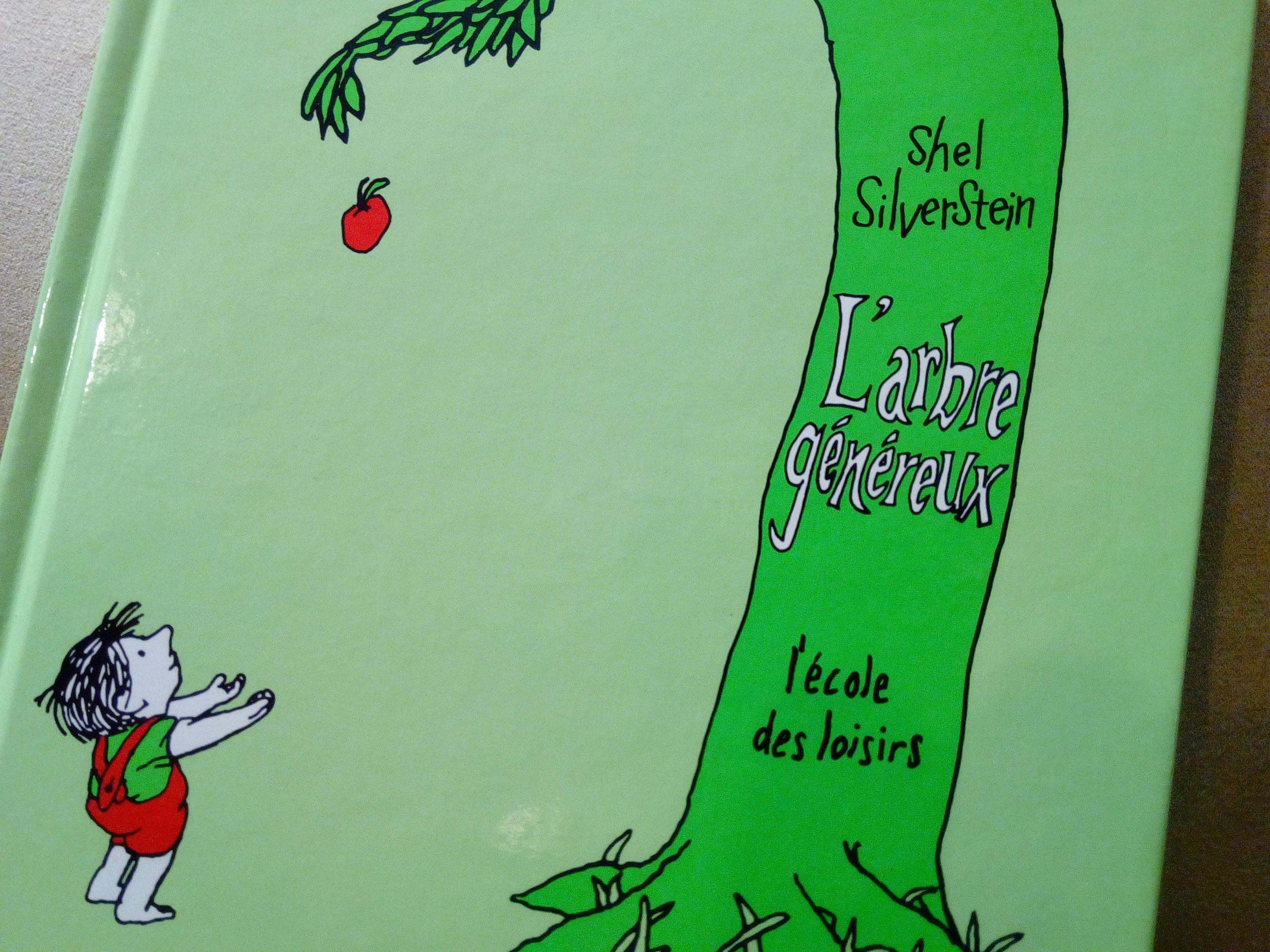 arbre généreux livre partage enfants