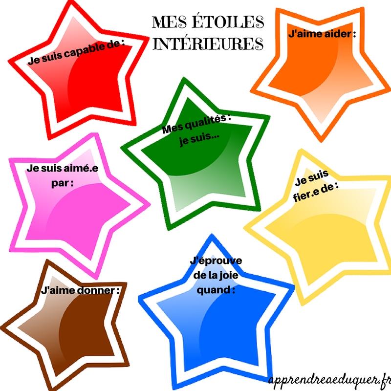 activité confiance en soi enfants étoiles