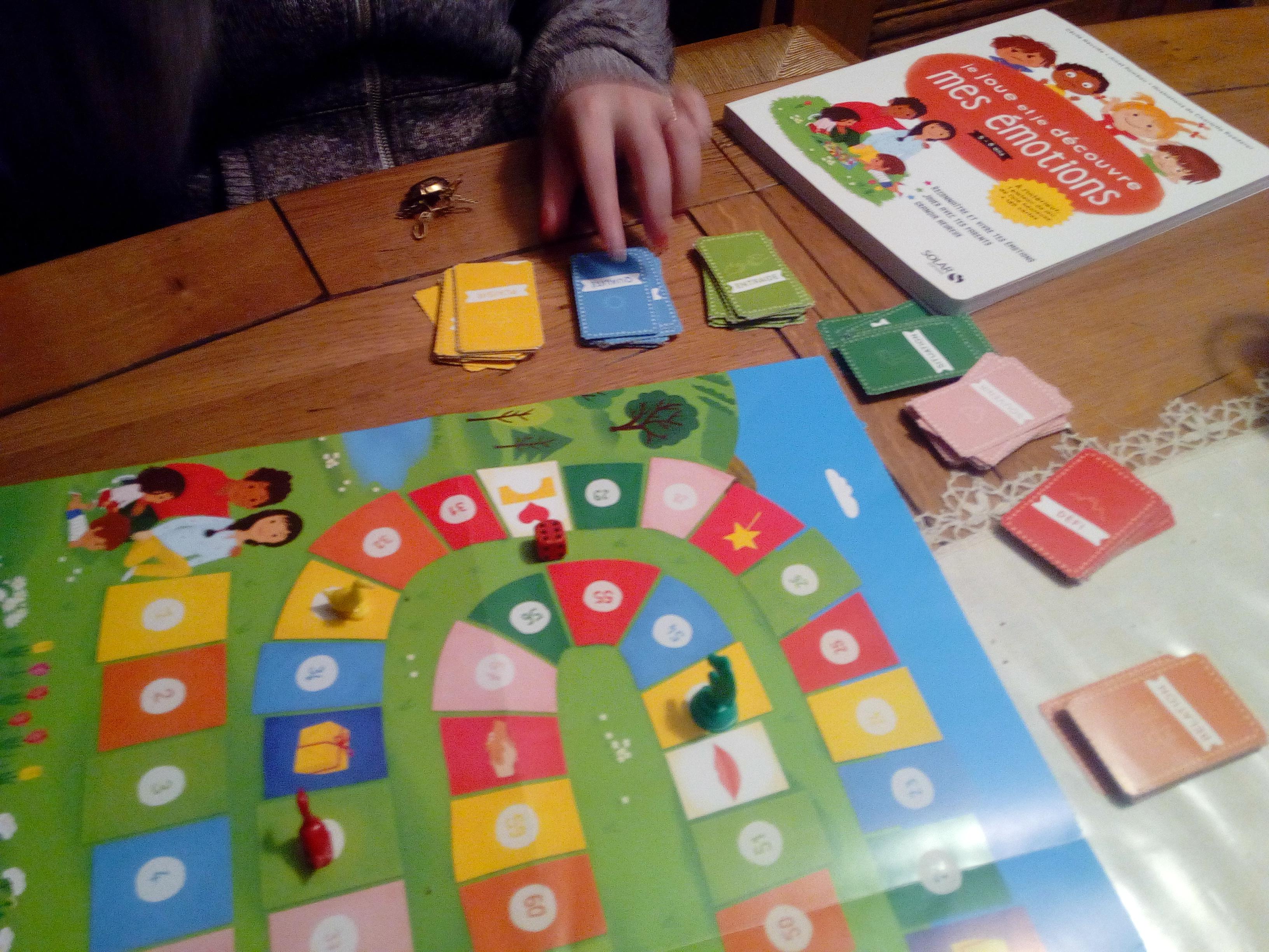 jeu de l'oie des émotions famille