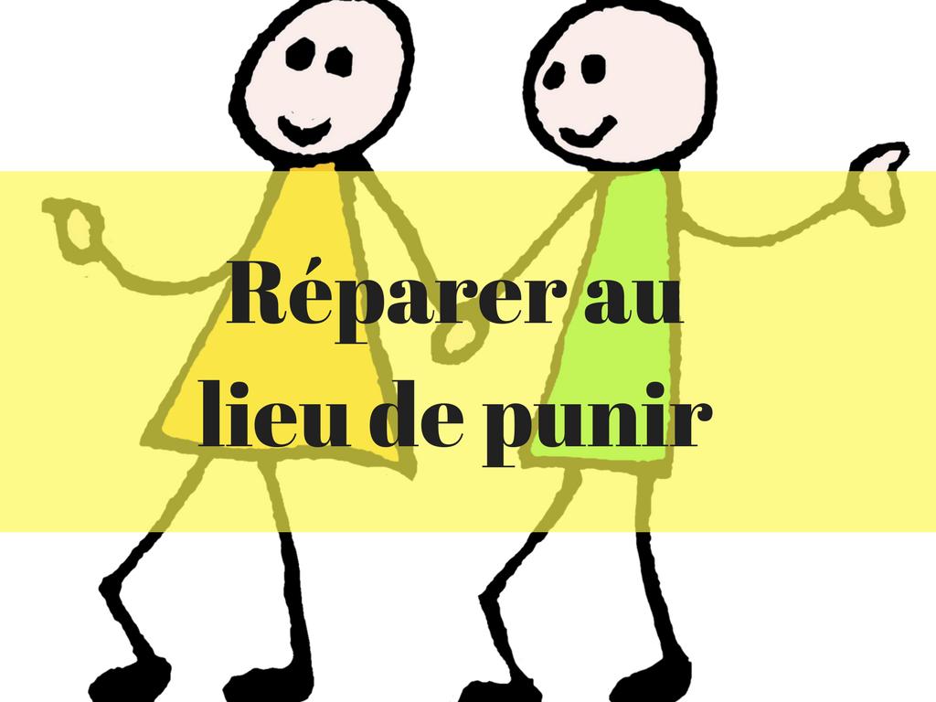 Réparer au lieu de punir