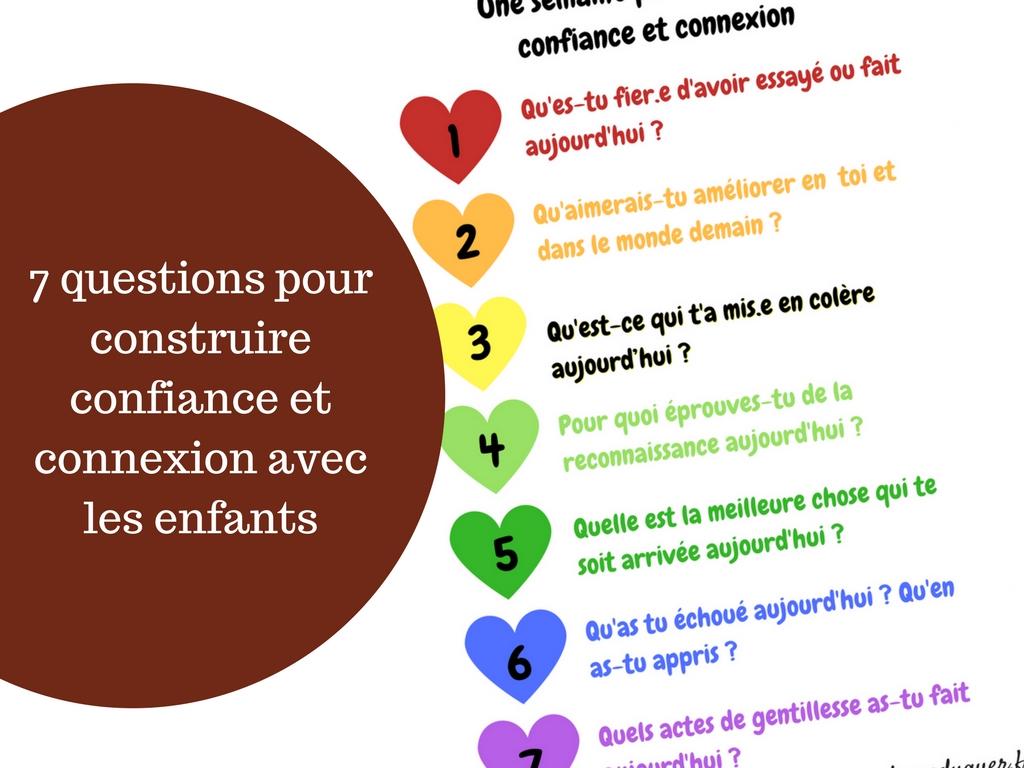 questions construire confiance et connexion avec les enfants