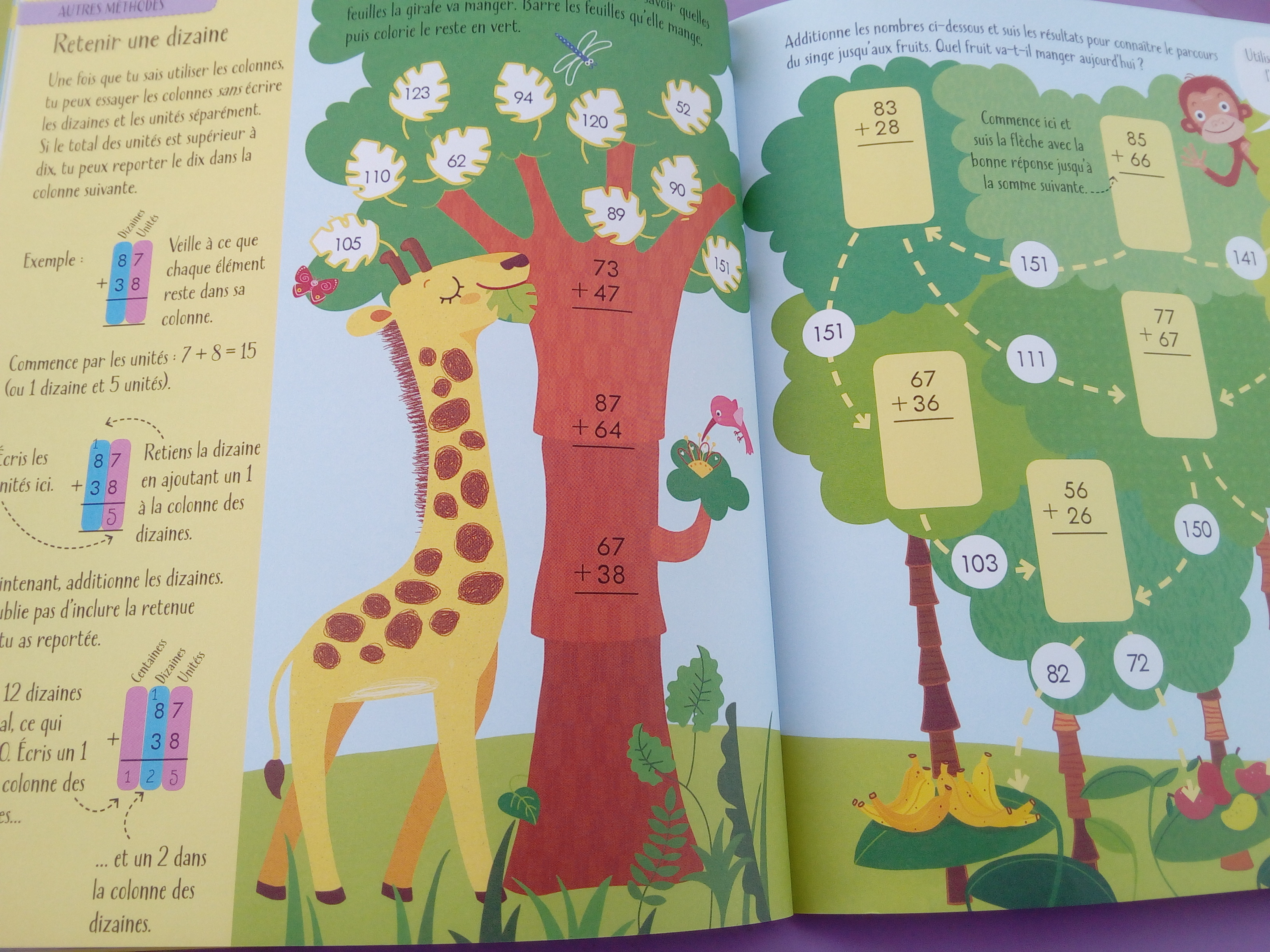 cahier activités maths additions soustractions