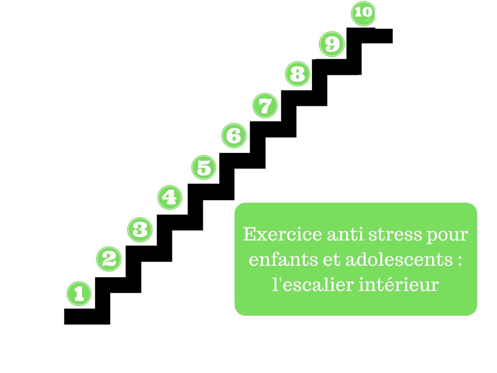 exercice anti stress enfants escaliers