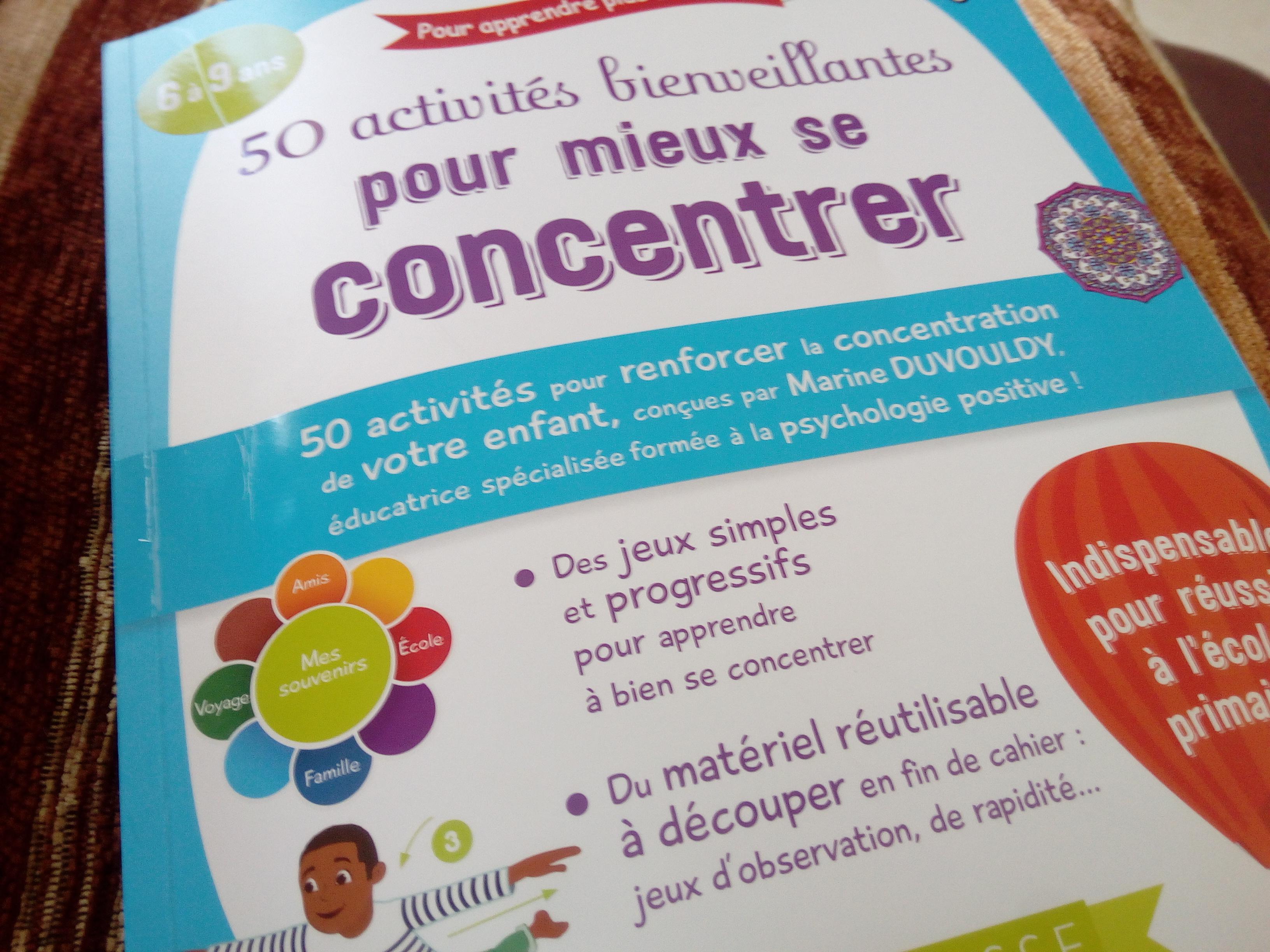 livre concentration enfants pédagogie positive