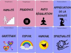 jeu de cartes forces psychologie positive