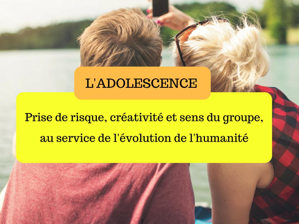 adolescence évolution humanité