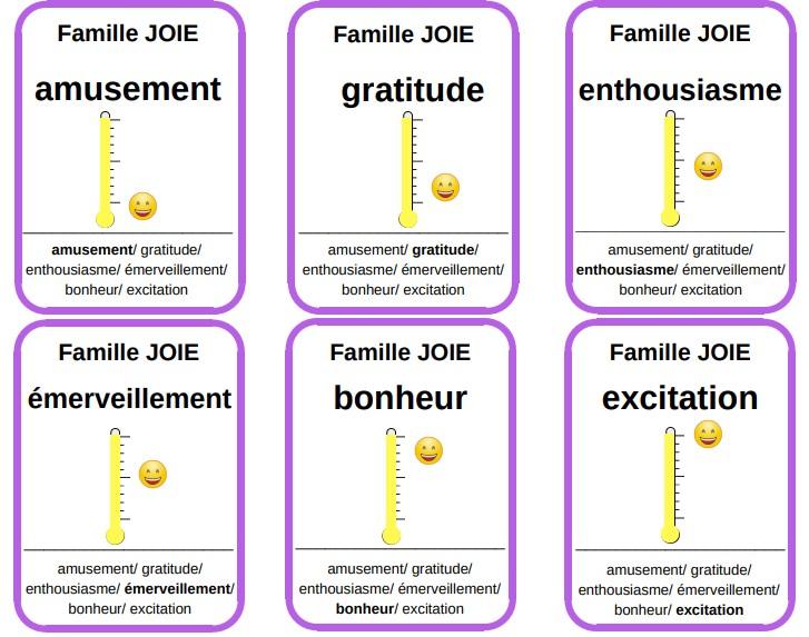 7 familles émotions